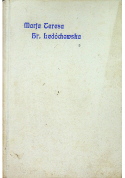 Marja Teresa Hr Ledóchowska 1925r
