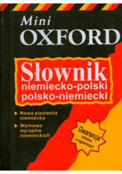 Słownik niemiecko - polski polsko-niemiecki Mini Oxford Nowa