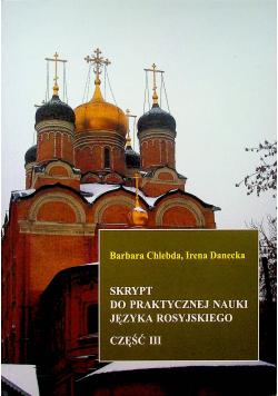 Skrypt do praktycznej nauki języka rosyjskiego część III