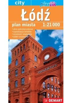 Łódź. Plan miasta w skali 1:21 000
