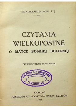 Czytanie wielkopostne o Matce Boskiej Bolesnej 1923 r.