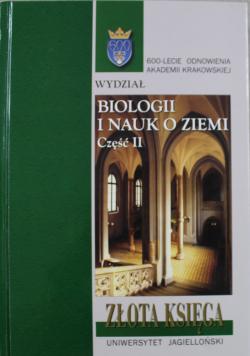 Złota księga wydziału biologii i nauk o ziemi część II