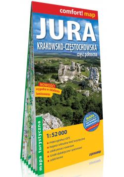 Jura Krakowsko-Częstochowska Część północna; laminowana mapa turystyczna 1:52 000