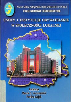 Cnoty i instytucje obywatelskie w spoleczności lokalnej