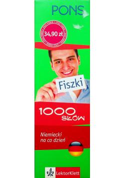 Fiszki 1000 słów Niemiecki na co dzień PONS