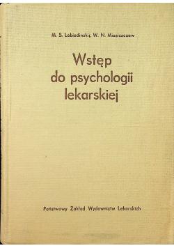 Wstęp do psychologii lekarskiej