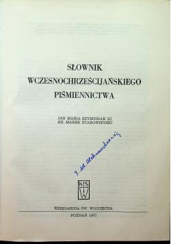 Słownik wczesnochrześcijańskiego piśmiennictwa