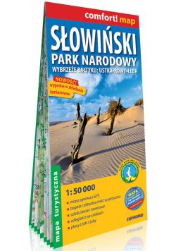 Słowiński Park Narodowy Wybrzeże Bałtyku Ustka, Rowy, Łeba laminowana mapa turystyczna 1:50 000