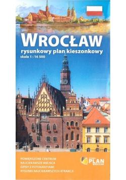 Plan kieszonkowy rys.-Wrocław 1:16 500 w.2019