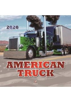 Kalendarz 2020 ścienny kwadrat American Truck