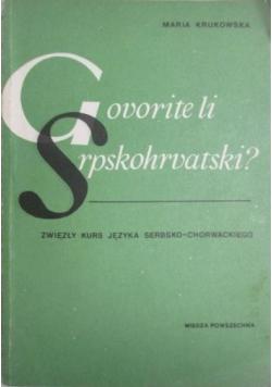 Govorite li Srpskohrvatski