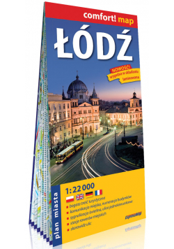 Łódź laminowany plan miasta 1:22 000