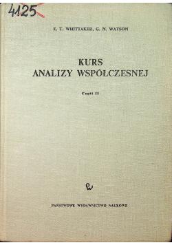 Kurs analizy współczesnej część II