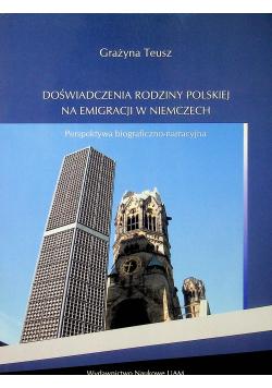 Doświadczenia rodziny polskiej na emigracji w Niemczech