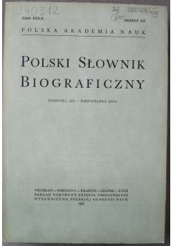 Polski Słownik Biograficzny Tom XXX zeszyt 125