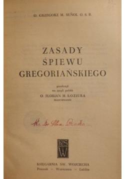 Zasady śpiewu gregoriańskiego część 1