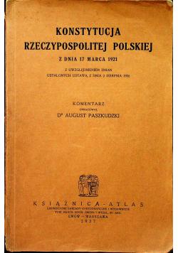 Konstytucja Rzeczypospolitej Polskiej z dnia 17 marca 1921 1927r