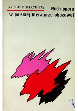 Ruch oporu w polskiej literaturze obrazowej