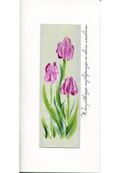 Karnet Urodziny DL U05 - Tulipany