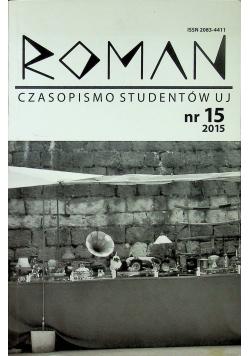 Roman czasopismo studentów UJ nr 15