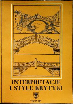 Interpretacje i style krytyki