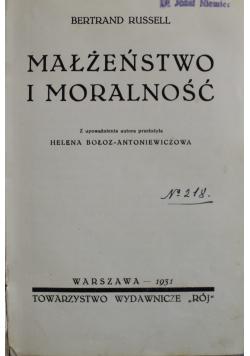 Małżeństwo i moralność 1931 r.