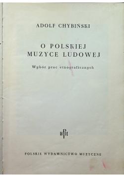O polskiej muzyce ludowej