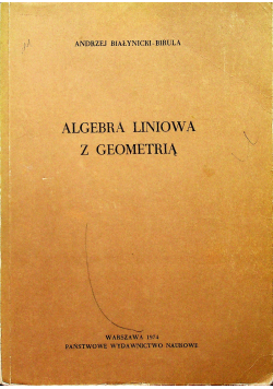 Algebra liniowa z geometrią