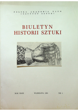 Biuletyn Historii Sztuki Nr 1