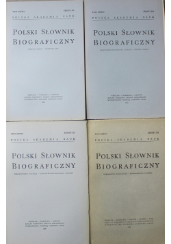 Polski słownik biograficzny Tom XXXII 4 zeszyty