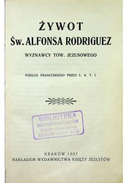 Żywot Św Alfonsa Rodriguez  1927 r.