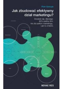 Jak zbudować efektywny dział marketingu?