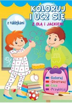 Koloruj i ucz się z Olą i Jackiem