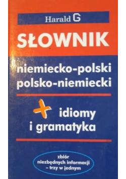 Słownik niemiecko - polski polsko - niemiecki idiomy i gramatyka