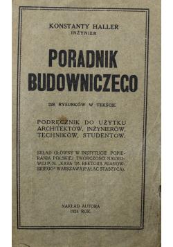 Poradnik budowniczego 1924 r