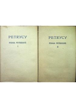 Petrycy Pisma wybrane Tom I i II