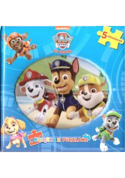 Psi Patrol. Książka z puzzlami - niebieska