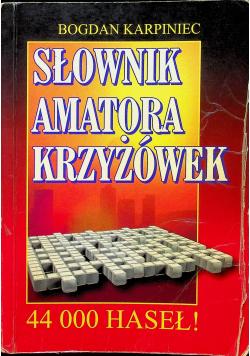 Słownik amatora krzyżówek