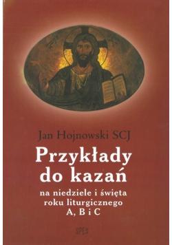 Przykłady do kazań na niedziele i święta roku liturgicznego A,B i C