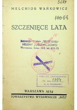 Szczenięce Lata 1934 r