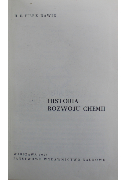 Historia rozwoju chemii