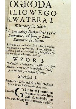 Ogrod Liliy Dvchownych 1661 r.