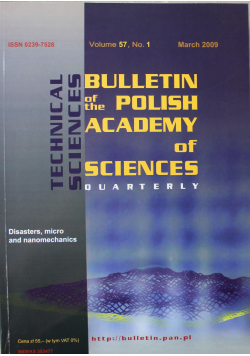 Bulletin of the polish academy of sciences volume 57 no 1