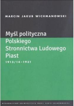 Myśl polityczna Polskiego Stronnictwa Lud. Piast