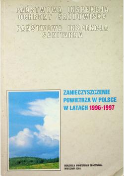 Zanieczyszczenie powietrza w Polsce w latach 1996 1997