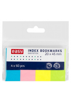 Zakładki indeksujące 45x20mm neon papierowe EASY