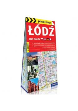 Plastic map Łódź - plan miasta 1:22 000 w.2019