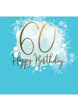 Karnet kwadrat CL0960_SG Urodziny 60