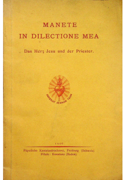 Manete in dilectione mea 1926 r.