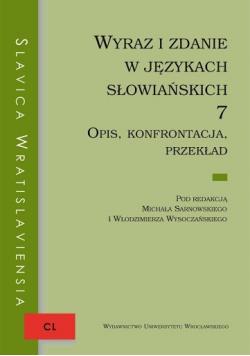 Wyraz i zdanie w językach słowiańskich 7